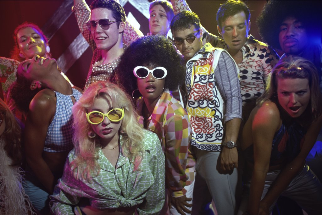 Stock Photo: 1042-5654 Portrait of a group of teenagers at a nightclub