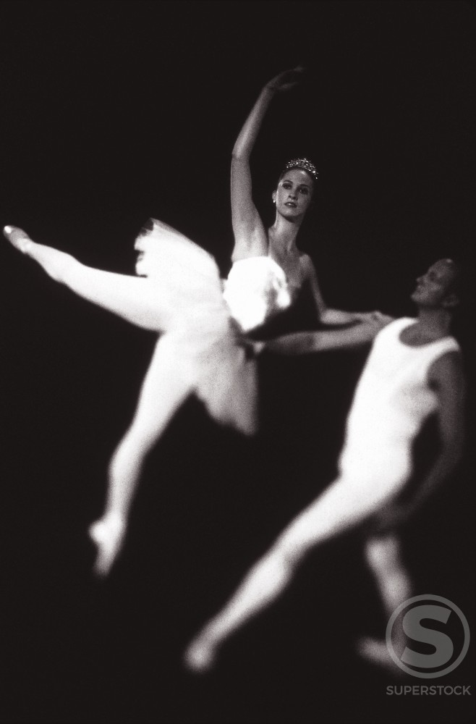 Ballet dancers performing : Stock Photo
