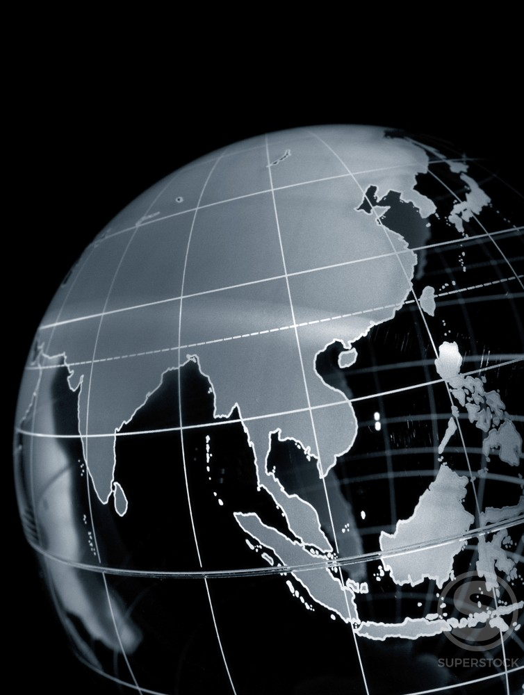 Stock Photo: 1042-7267 Close-up of a globe
