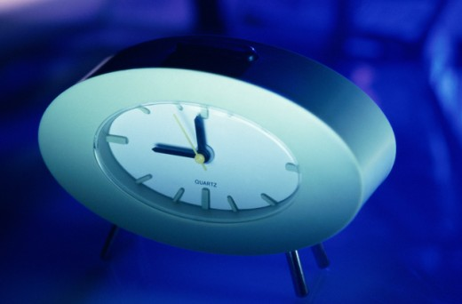 Stock Photo: 1042R-10885B Close-up of an alarm clock