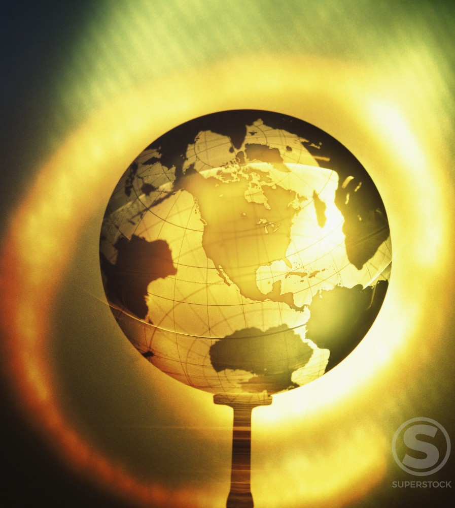 Stock Photo: 1042R-8421 Close-up of a globe