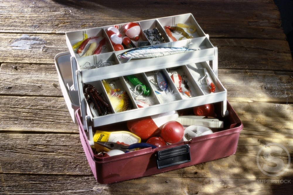 Stock Photo: 1042R-8984 Fishing tackle box