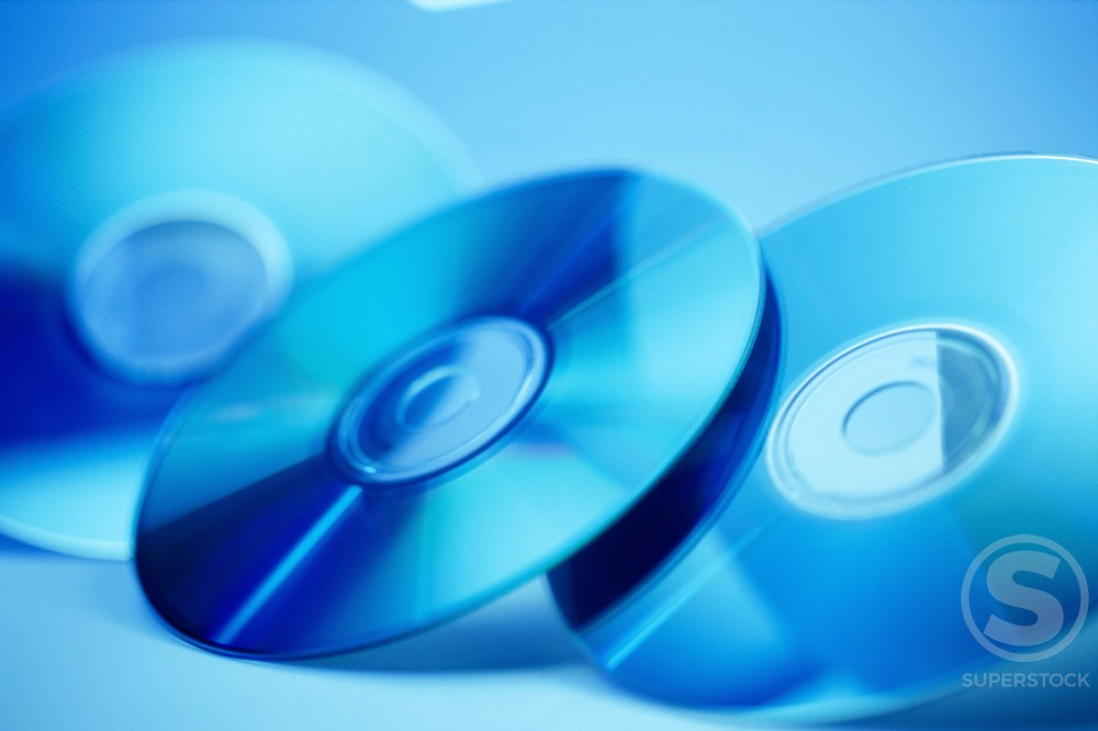 Stock Photo: 1042R-9022 Close-up of CD's