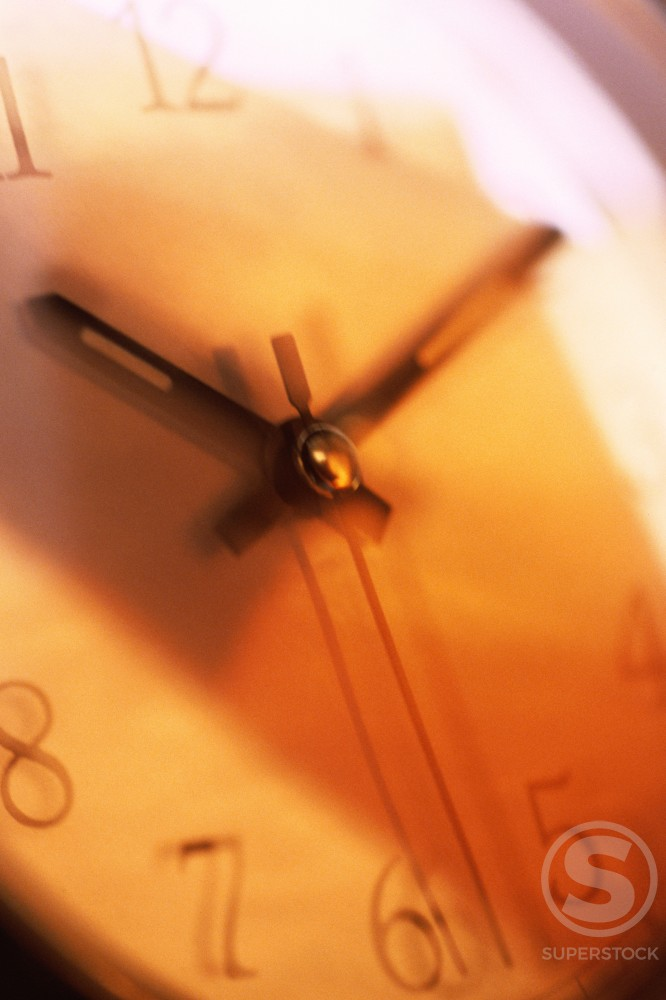 Stock Photo: 1042R-9276 Close-up of a clock