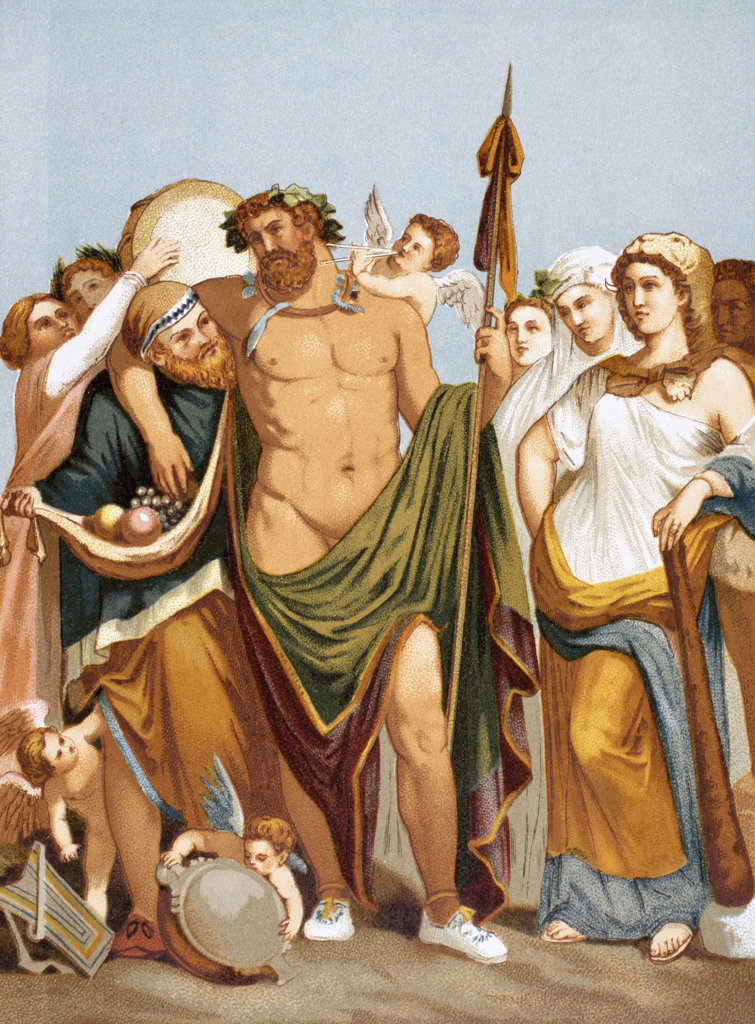 Stock Photo: 1047-144 Hercules and Omphale Artist Unknown
