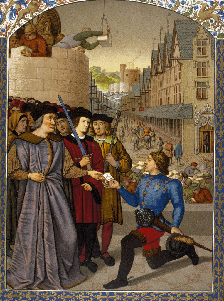 Stock Photo: 1047-199 The Lord of Rochechouart Receives a Royal Messenger 
