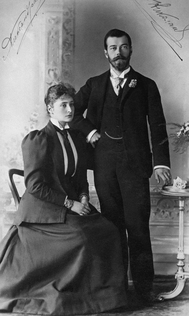 Czar Nicholas II and Czarina Alexandra of Russia : Stock Photo