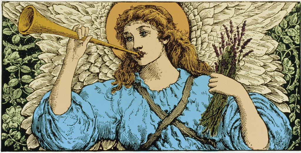 Stock Photo: 1047-244 Angel With Trumpet Illustration