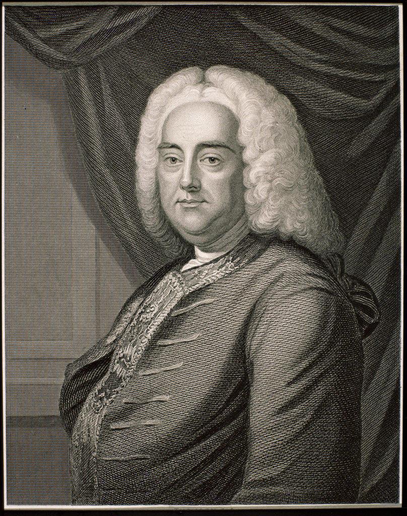 George Friederic Handel  British Composer (1685-1759) Artist Unknown    : Stock Photo