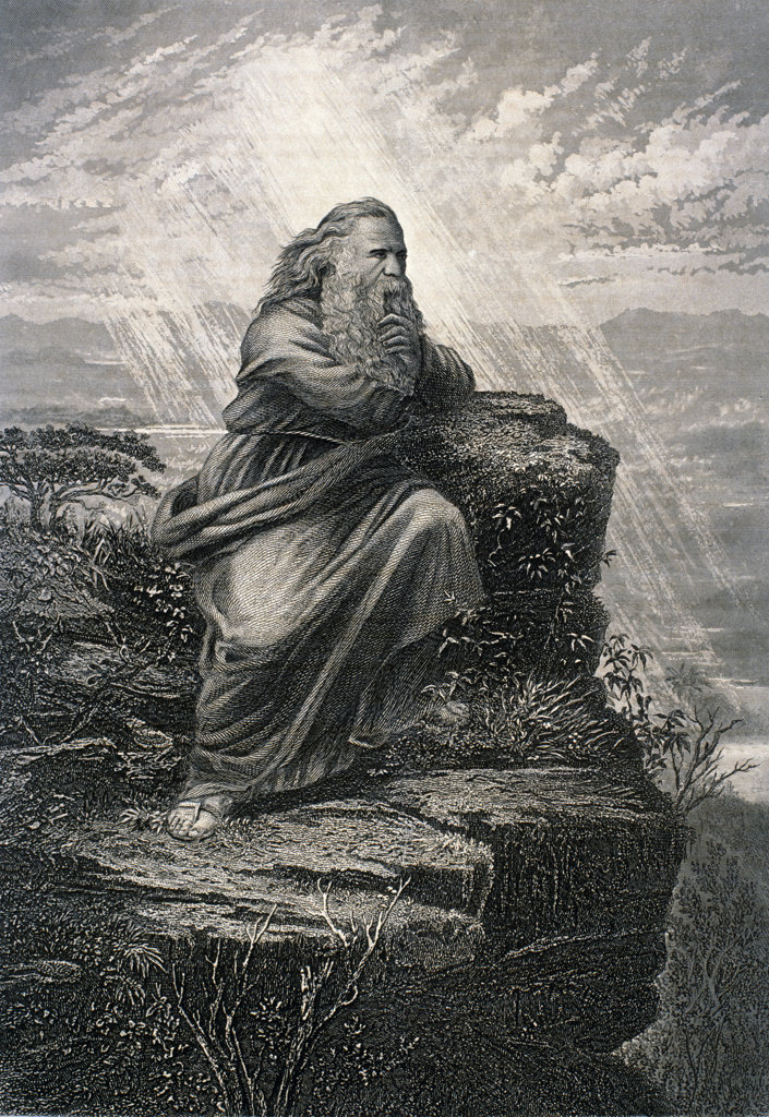 Moses on Mount Nebo : Stock Photo