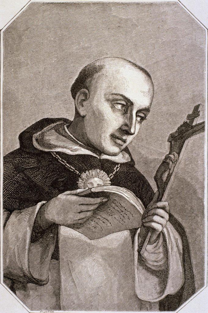 Stock Photo: 1047-652 Saint Thomas Aquinas (1225-1274) Italian Theologian and Philosopher Artist Unknown