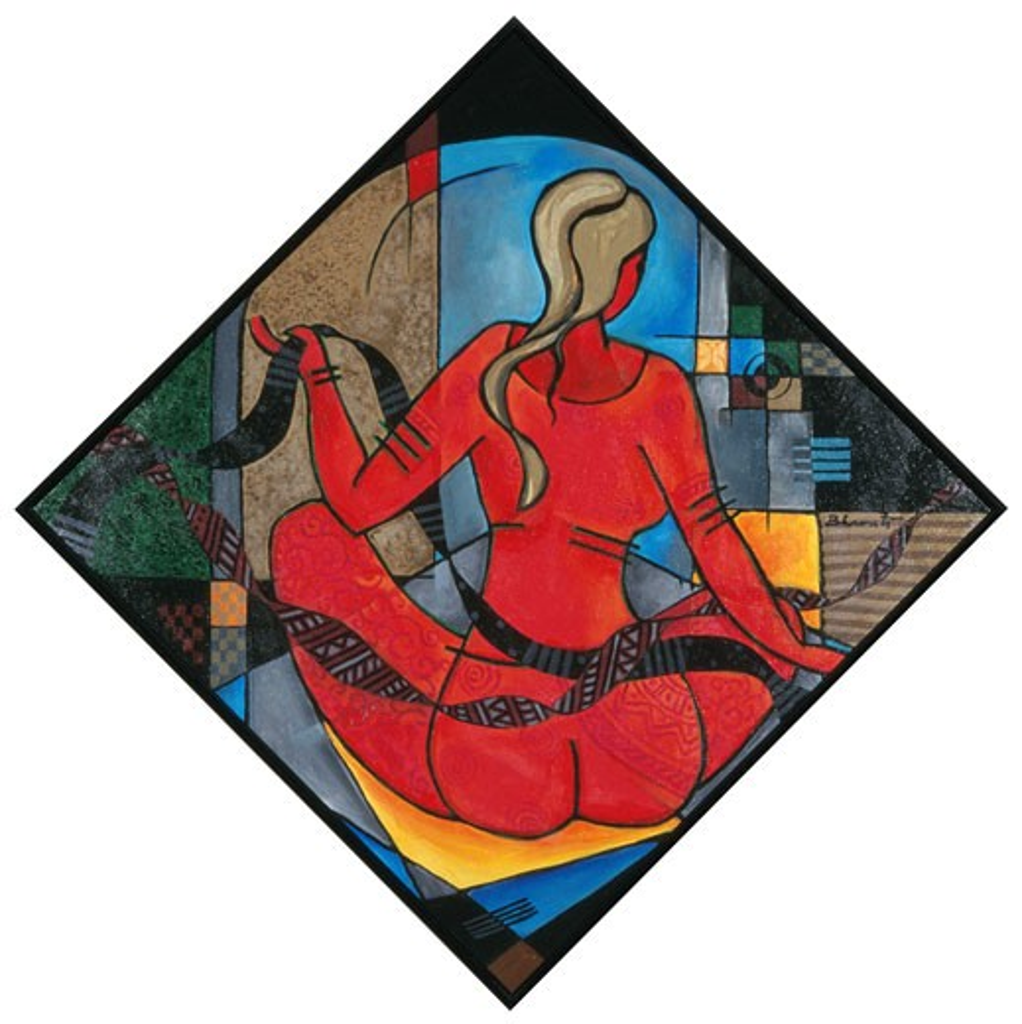 Rhythmic Repose II Bharati Chaudhuri (b.1951 Indian) Acrylic on canvas : Stock Photo