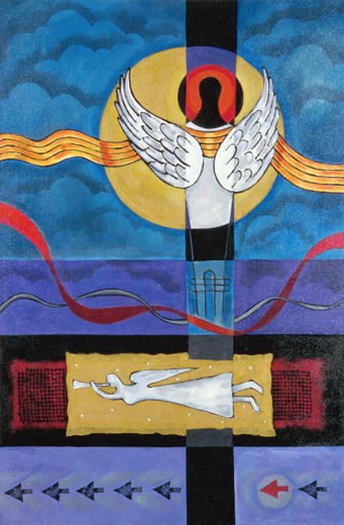 Stock Photo: 1048-14041 Flying Angel Bharati Chaudhuri (b.1951 Indian) Acrylic on canvas