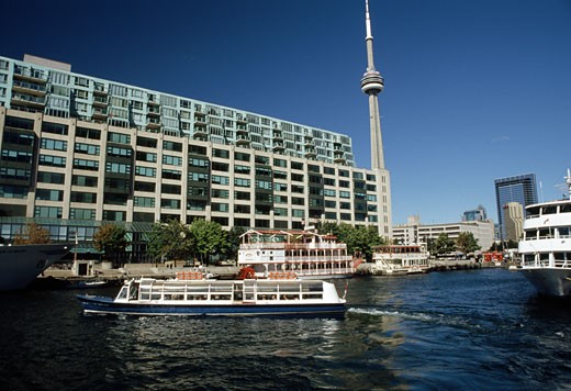 Stock Photo: 105-1756C Buildings at the waterfront, Toronto, Ontario, Canada