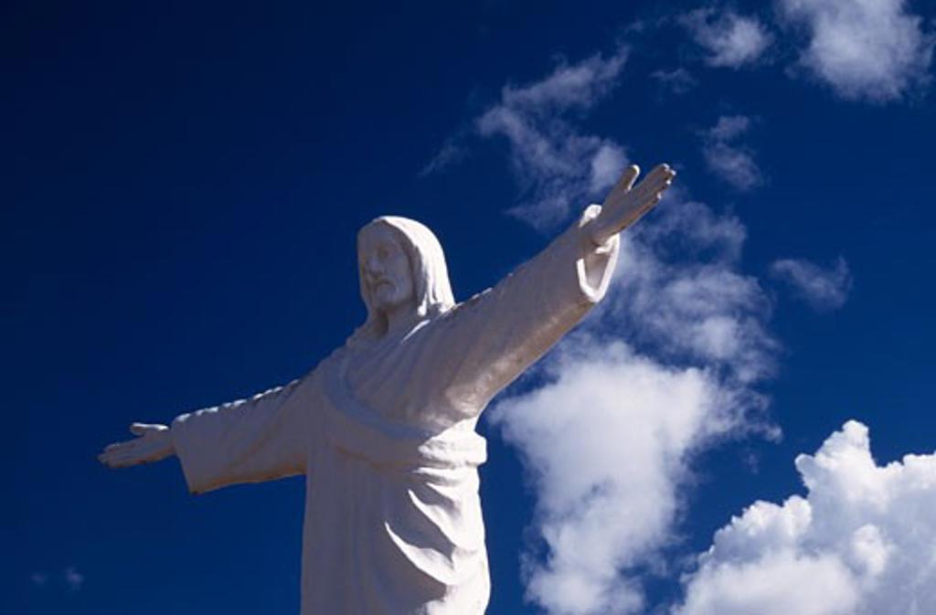White Christ Statue,  Peru,  Department Of Cuzco,  Cuzco : Stock Photo