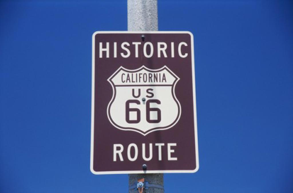 Stock Photo: 105-2411 Route 66 Barstow California USA