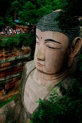 Stock Photo: 105-2623B Leshan Giant Buddha