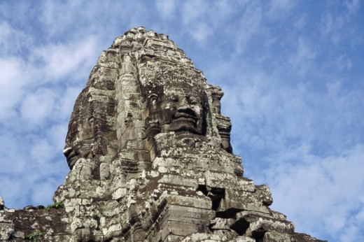 Stock Photo: 105-3147 Low angle view of a sculpture, Angkor Thom, Cambodia