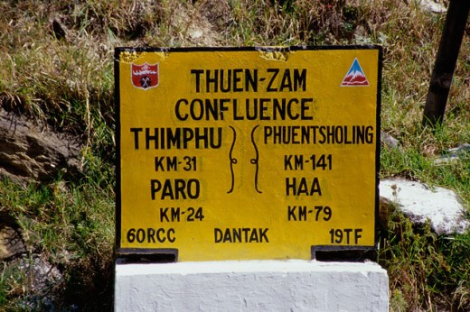 Stock Photo: 105-3271 Close-up of an information board, Bhutan