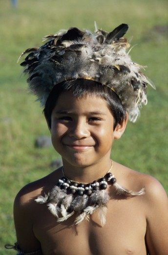 Stock Photo: 105-W3169 Rapanui Boy