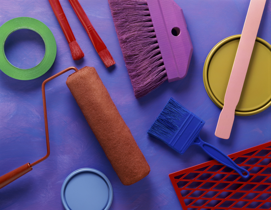 painting supplies : Stock Photo
