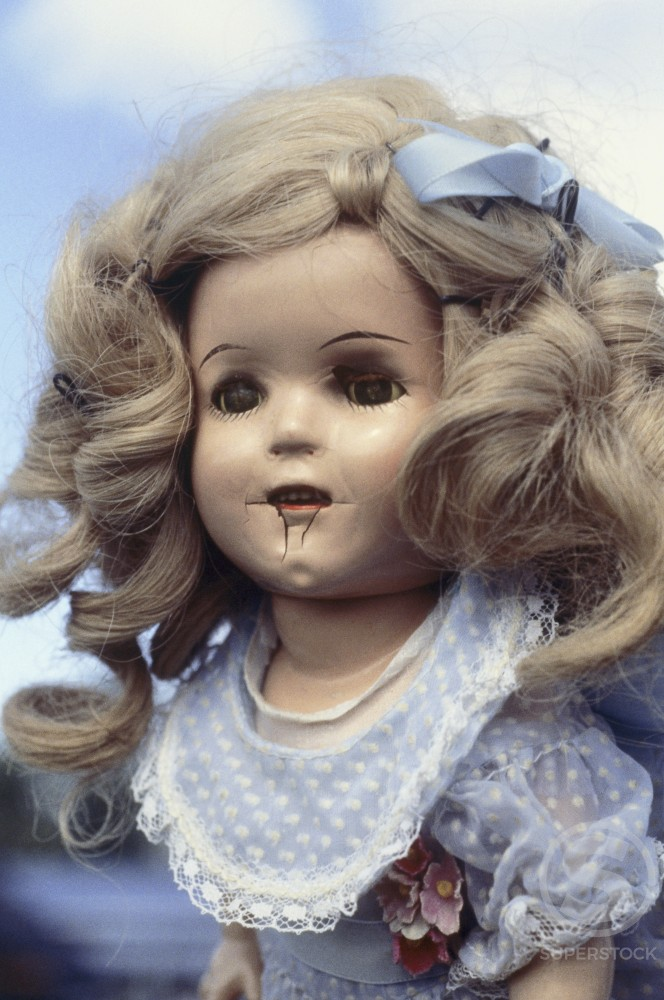 Stock Photo: 1053-124 Close-up of an antique doll