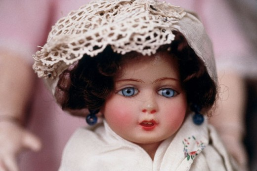 Stock Photo: 1053-158 Close-up of an antique doll