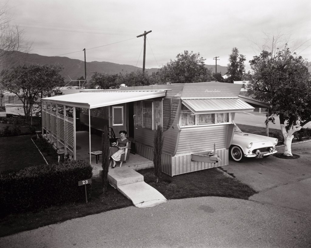 Stock Photo: 1060-117 Trailer Park