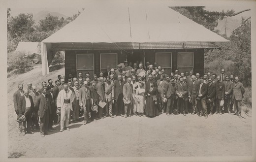GROUP PHOTO OF THE FOURTH CONFERENCE OF THE INTERNATIONAL UNION FOR COOPERATION IN SOLAR RESEARCH ON MT. WILSON. : Stock Photo