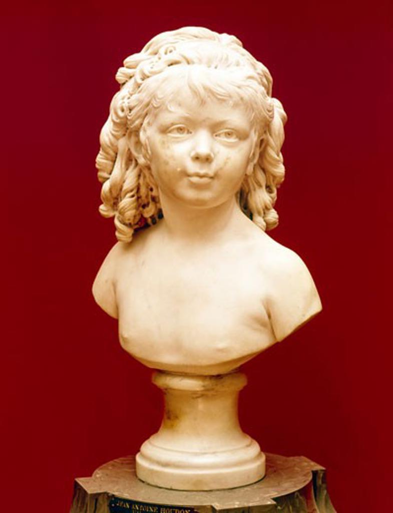 Sabine Houdon, Jean-Antoine Houdon (1741-1828 French), Marble, The Huntington Library, Art Collections, and Botanical Gardens, San Marino, California : Stock Photo