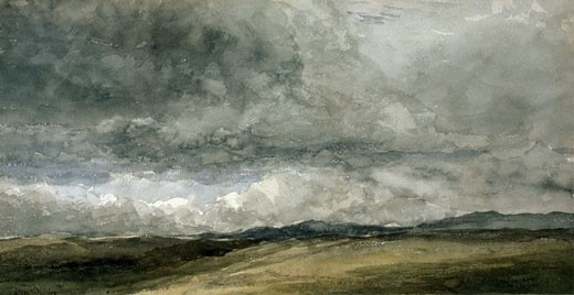Stock Photo: 1060-262 Storm Clouds, David Cox (19th C. British), Watercolor, The Huntington Library, Art Collections, and Botanical Gardens, San Marino, California
