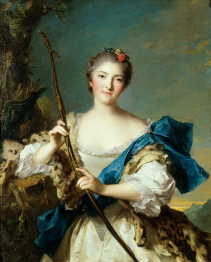 Stock Photo: 1060-288 Portrait of a Lady as Diana or MME Bonnier De La Mosson