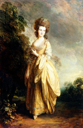 Stock Photo: 1060-302 Mrs. Henry Beaufoy, ca. 1780, Thomas Gainsborough (1727-1788 British), Oil on canvas, The Huntington Library, Art Collections, and Botanical Gardens, San Marino, California, USA