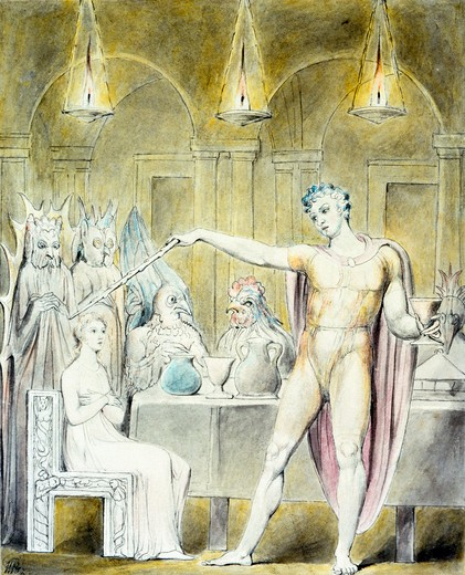 Stock Photo: 1060-358 The Magic Banquet With the Lady Spell-Bound
