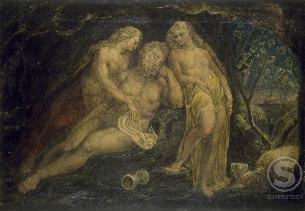 Stock Photo: 1060-368 Lot and his Daughters 