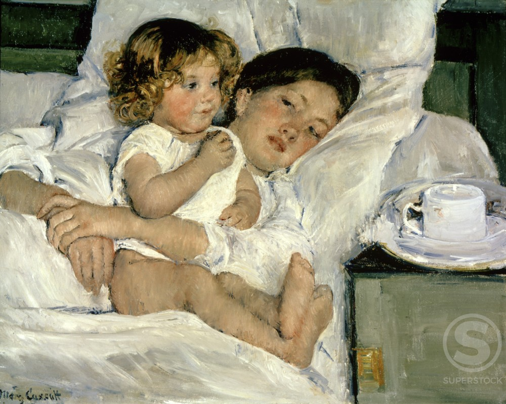 Stock Photo: 1060-406 Breakfast in Bed 