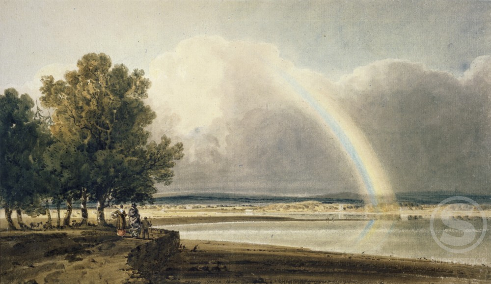 Stock Photo: 1060-412 Rainbow on the Exe