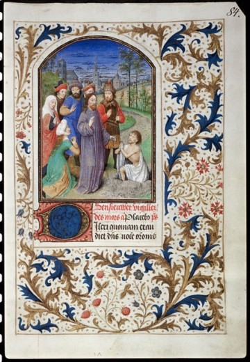 Stock Photo: 1060-455 Raising Of Lazarus, The Book Of Hours