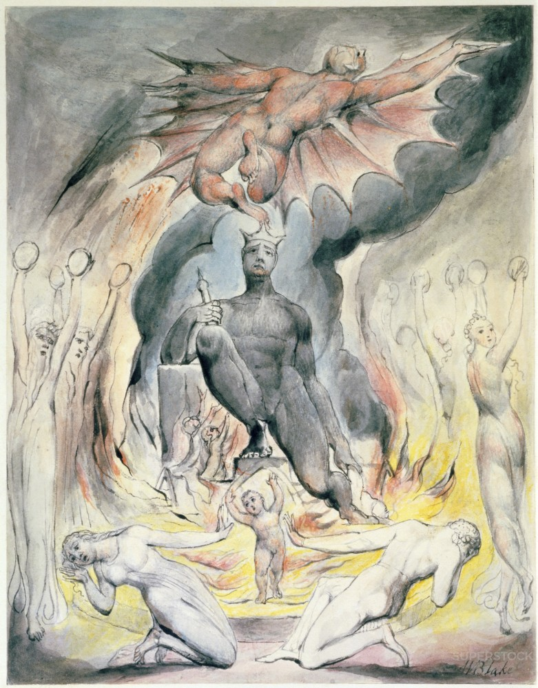 Stock Photo: 1060-498 The Flight of Moloch from On the Morning of Christ's Nativity 