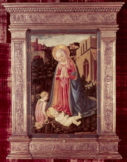 Stock Photo: 1060-535 Madonna and Child with St. John 