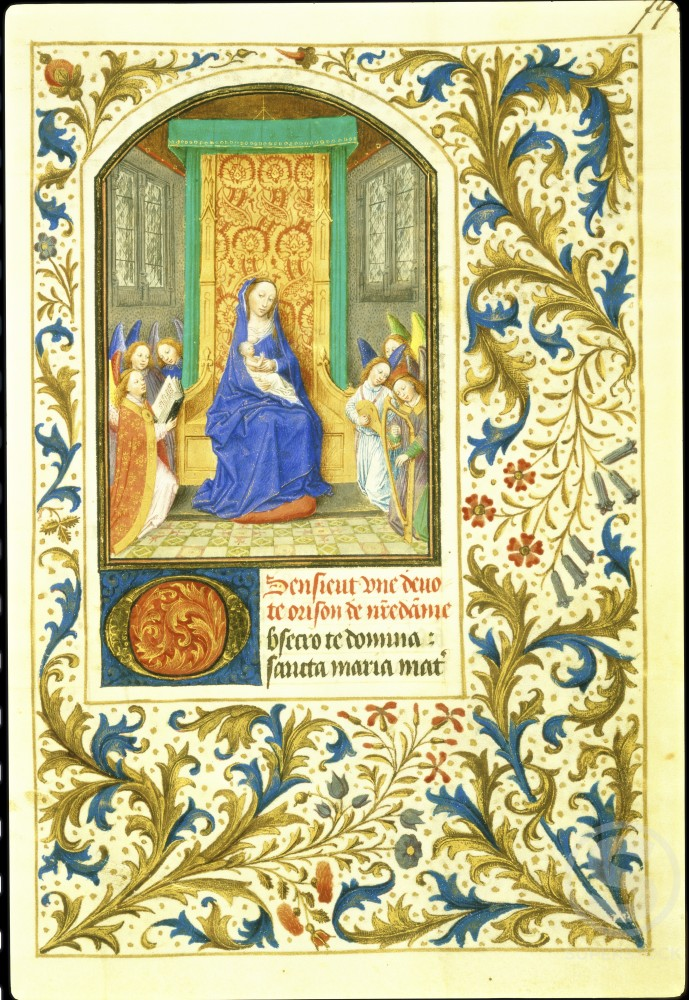 The Virgin Enthroned: Book of Hours 