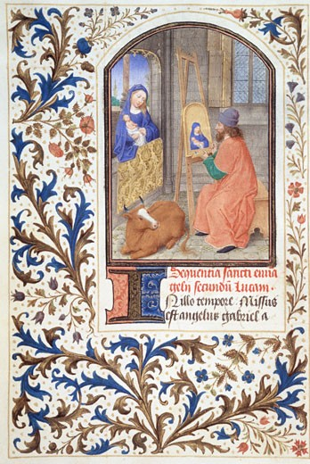 Stock Photo: 1060-613 St. Luke Painting of the Virgin Mary