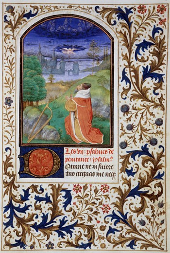 Stock Photo: 1060-622 King David In Prayer