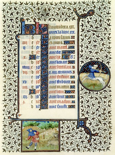 Stock Photo: 1060-643 Book of Hours (French), Mid-15th C., Workshop of the Bedford Master (15th C. French), The Huntington - San Marino, California
