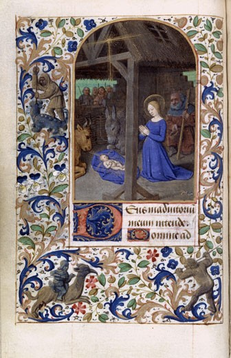 Stock Photo: 1060-650 Nativity, Book Of Hours (French)