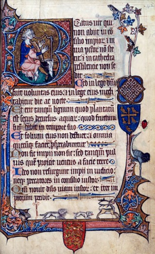 Stock Photo: 1060-655 Psalter (C. 1300-1350) Manuscripts The Huntington Library, Art Collections