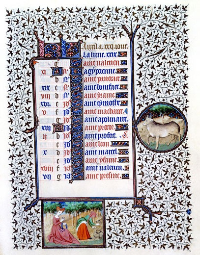 Stock Photo: 1060-658 Book of Hours (French), Mid-15th C., Workshop of the Bedford Master (15th C. French), The Huntington - San Marino, California