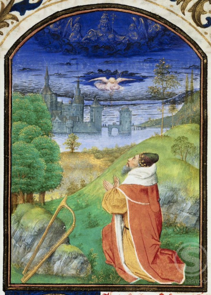 King David in Prayer - Detail