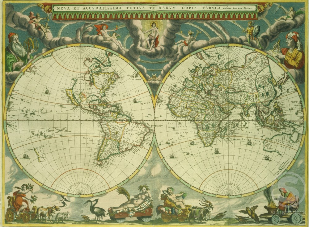 Grooten atlas world map 1642 1665 joan blaeu 1596 1673 dutch the similar images gumiabroncs Image collections
