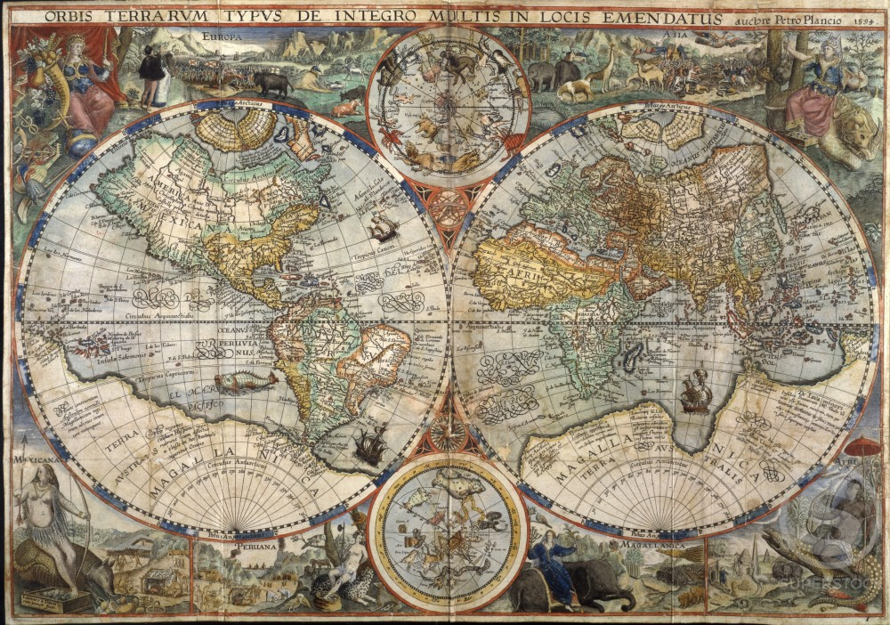 "World Map from ""Itinerario""   
